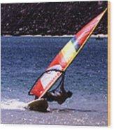 Sailboarder Wood Print