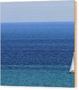 Sailboat 1 Wood Print