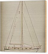 Sailboat 42 Wood Print