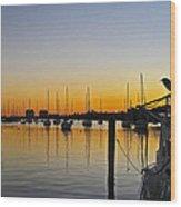 Sailboat Bay Wood Print