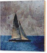 Sailboat Bird W Metal Wood Print