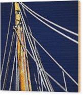 Sailboat Lines Wood Print