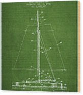 Sailboat Patent From 1932 - Green Wood Print