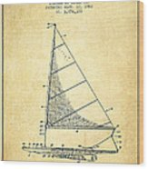 Sailboat Patent From 1962 - Vintage Wood Print