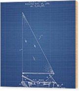 Sailboat Patent From 1991- Blueprint Wood Print