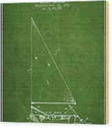 Sailboat Patent From 1991- Green Wood Print