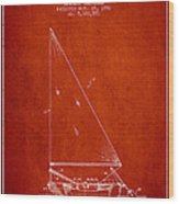 Sailboat Patent From 1991- Red Wood Print