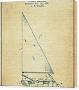 Sailboat Patent From 1991- Vintage Wood Print