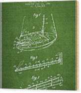 Sailboat Patent From 1996 - Green Wood Print