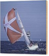 Sailboat Race On Puget Sound Wood Print