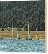 Sailboat Regatta Cascade Lake Wood Print