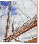 Sailboat Rigging Wood Print