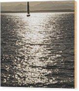 Sailboat Silhouette Wood Print