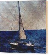 Sailboat Slow W Metal Wood Print