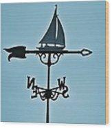 Sailboat Weathervane Wood Print