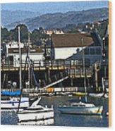 Sailboats Anchored At Mooring Wood Print