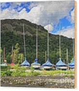 Sailboats At Glenridding In The Lake District Wood Print