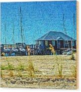 Sailboats Boat Harbor - Quiet Day At The Harbor Wood Print