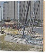 Sailboats For Playtime Wood Print