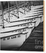 Sailboats In Newport Beach California Picture Wood Print