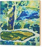 Sailboats On Charles River Wood Print by Alexandra Jordankova