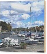 Sailboats On Sunapee Wood Print