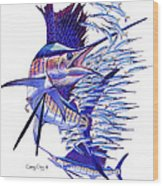 Sailfish Ballyhoo Wood Print