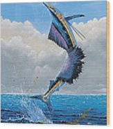 Sailfish Dance Off0054 Wood Print