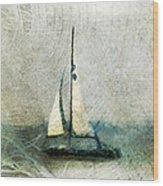 Sailin' With Sally Starr Wood Print