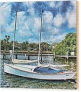 Sailboat Series 01 Wood Print