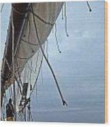 Sailing A Skipjack Wood Print