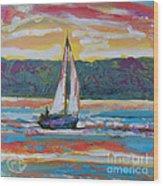 Sailing Along Wood Print