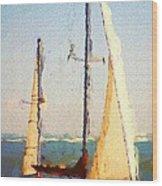 Sailing At Daytona Wood Print