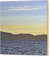 Sailing At Sunset - Lake Tahoe Wood Print
