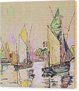Sailing Boats At Les Sables D Olonne  Wood Print