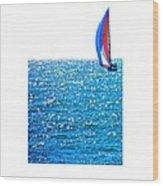 Sailing Wood Print by Brian D Meredith