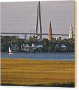 Sailing Charleston Wood Print