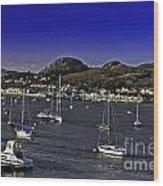 Sailing Conwy Harbor Wood Print