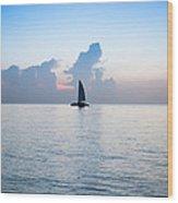 Sailing Daybreak Wood Print