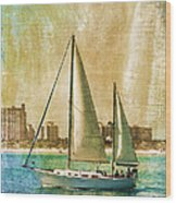 Sailing Dreams On A Summer Day Wood Print