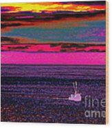 Sailing Home After Long At Sea Wood Print