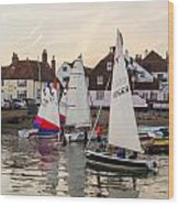 Sailing Home Wood Print by Trevor Wintle