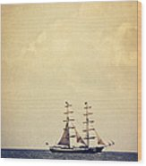 Sailing II Wood Print by Angela Doelling AD DESIGN Photo and PhotoArt