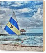 Sailing In Cancun Wood Print