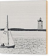 Sailing In Cape Cod Wood Print