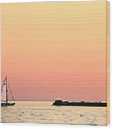 Sailing In Color Wood Print