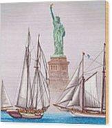 Sailing In Good Company Wood Print