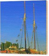 Sailing In Maine Wood Print