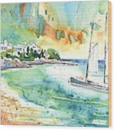 Sailing In Saint Martin Wood Print