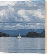 Sailing In The San Juans Wood Print